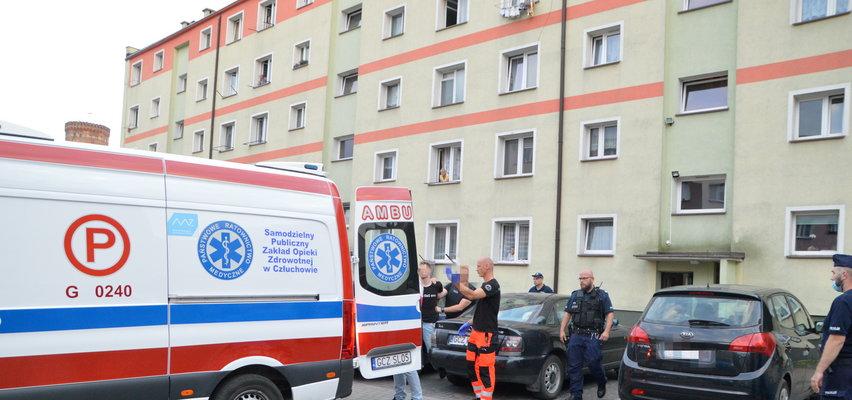 Dramatyczne chwile w Człuchowie. Mężczyzna zabarykadował się z dwumiesięcznym niemowlęciem!
