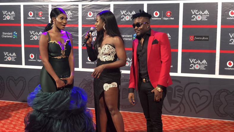 Wendy Shay channels Mrs Dumelo wedding dress for VGMA
