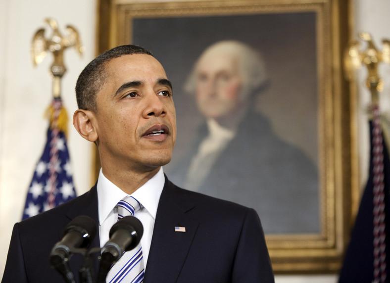 Prezydent USA Barack Obama w Białym Domu w Waszyngtonie, DC, USA
