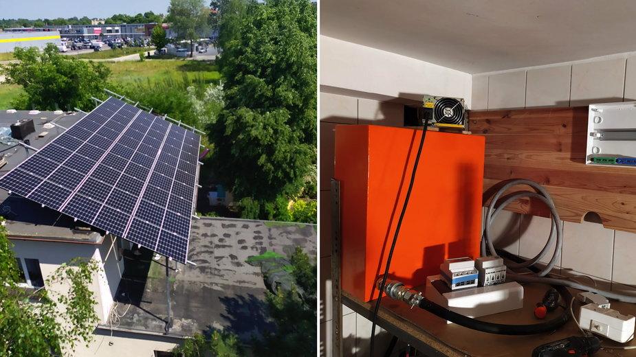 Polak ma koparkę Bitcoinów na panele solarne. Zarabia i nie płaci