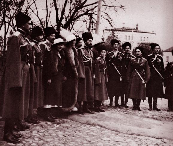 U poseti frontu tokom Prvog svetskog rata