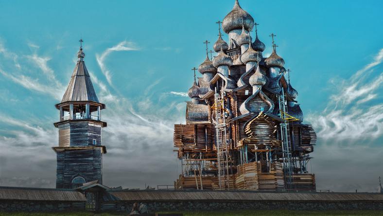 Cerkiew Przemienienia Pańskiego na wyspie Kiży w Rosji