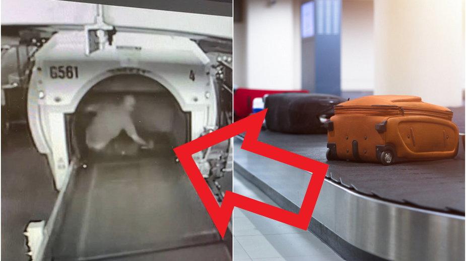 9-letni chłopiec wskoczył na taśmę bagażową na lotnisku
