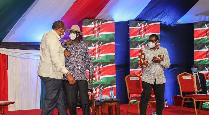 Uhuru, Raila kick off collection of signatures by signing BBI Bill