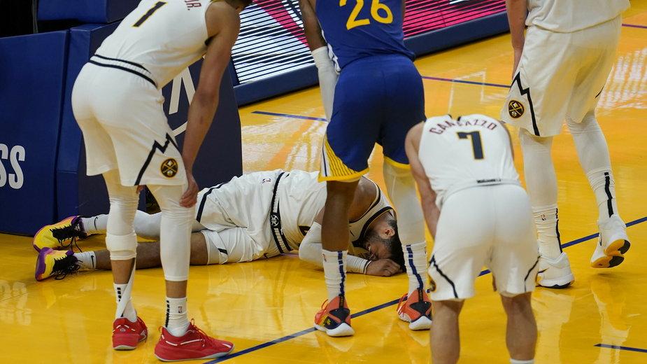 Jamal Murray doznał kontuzji podczas meczu Denver Nuggets - Golden State Warriors