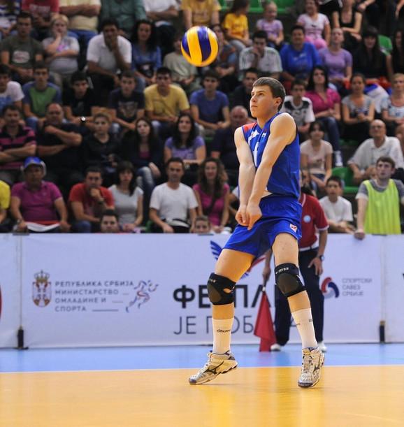 Vukašin Smiljanić, libero potekao u Spartaku iz Ljiga, igrao je za juniorsku reprezentaciju Srbije