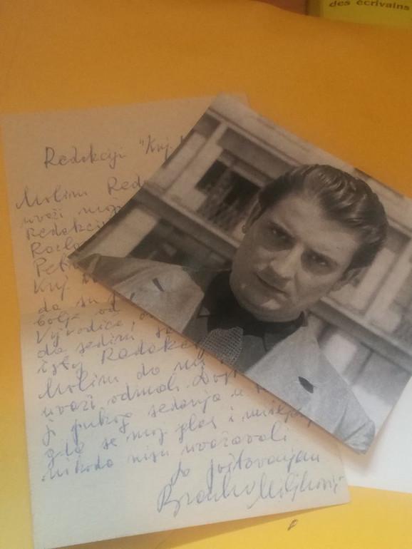 Među ličnim stvarima Petra Pajića su pismo i fotografija Branka Miljkovića