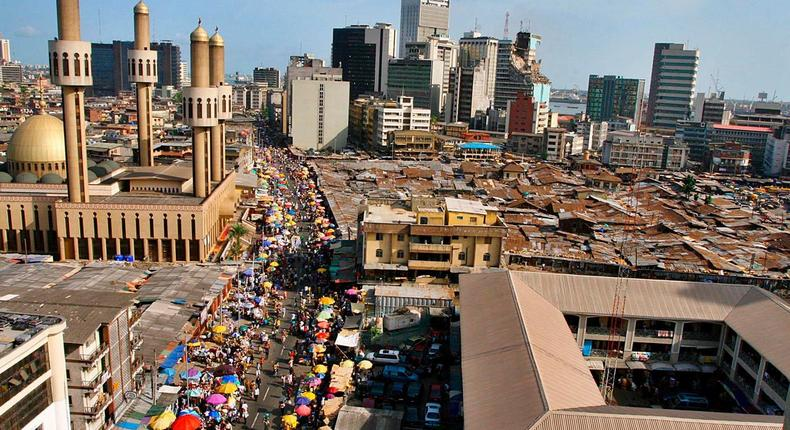 Lagos market district used to illustrate the story