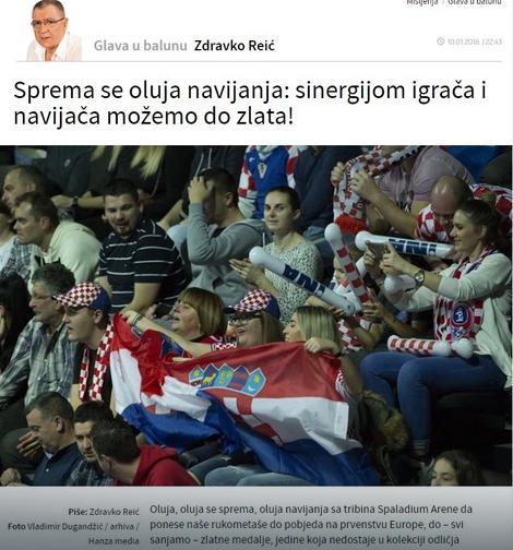 """Tekst na sajtu """"Slobodne Dalmacije"""""""