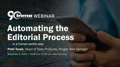 Automating the Editorial Process: Join our INMA Webinar