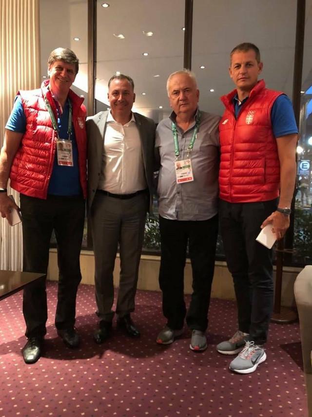 Žarko Zečević, Stanislav Pozdnjakov, Božidar Maljković i Đorđe Višacki