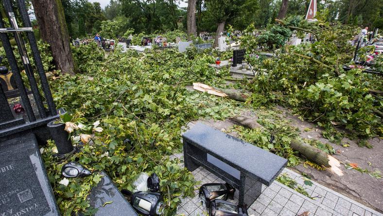 Skutki wczorajszej nawałnicy w Gnieźnie