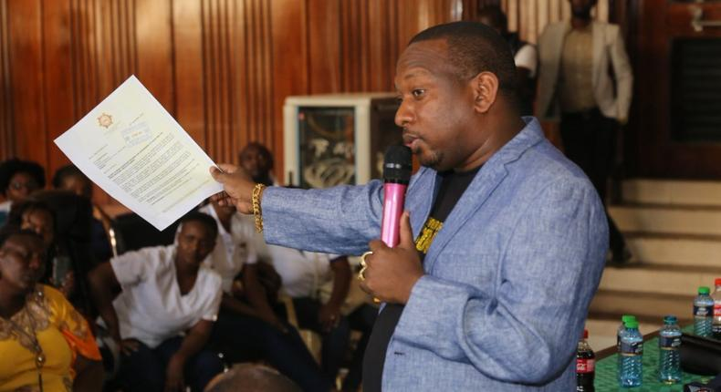 Nairobi Governor Mike Sonko during a past public function (Twitter)