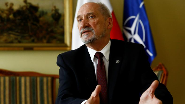 Polish Defence Minister Macierewicz speaks with Reuters during an interview in Warsaw