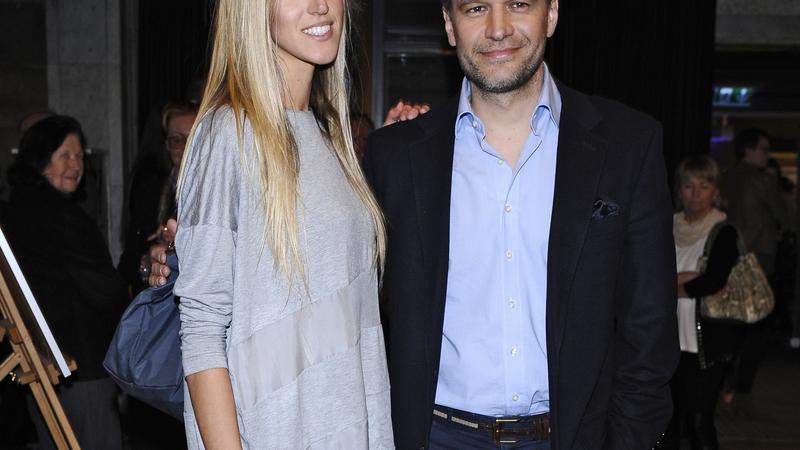 Michał Żebrowski z żoną Aleksandrą Adamczyk