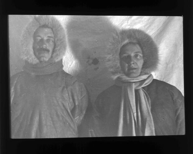 Henry Usher Hall i Maria Czaplicka podczas ekspedycji nad rzekę Jenisej