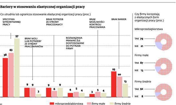 Bariery w stosowaniu elastycznej organizacji pracy