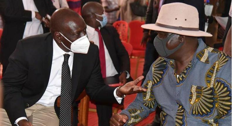 ODM Party Leader Raila Odinga and Deputy President William