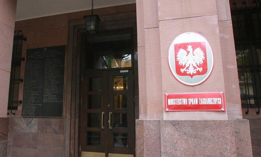 Przeszukanie w MSZ w sprawie Smoleńska