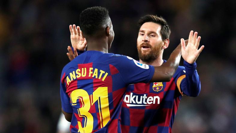Ansu Fati i Lionel Messi