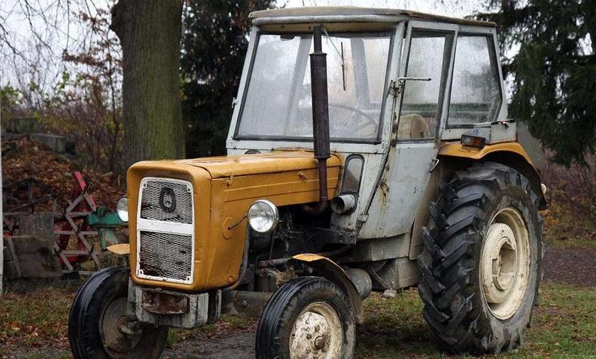 Rozjechał żonę traktorem, bo był niedopity