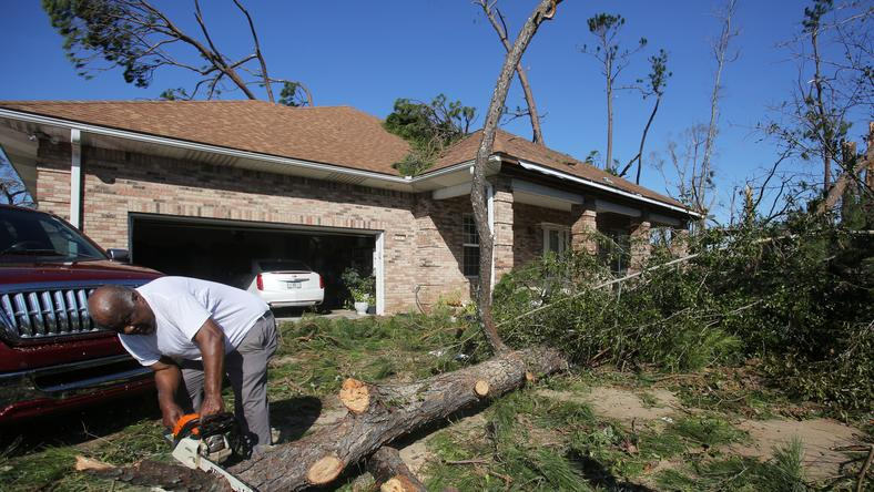 epa07086812 - USA FLORIDA HURRICANE MICHAEL (Florida after the arrival of Hurricane Michael)