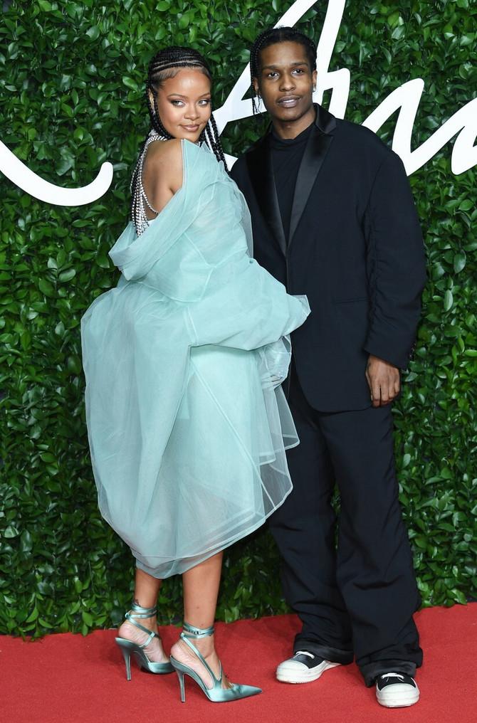 Rijana i ASAP Roki na dodeli Britanskih modnih nagrada 2019. godine