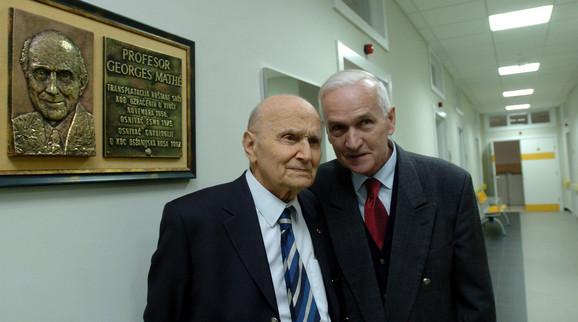 Prof. Žorž Mate i Radojko Maksić