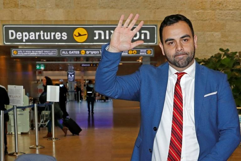HRW's Omar Shakir at Ben Gurion Airport on November 25, 2019, after being expelled from Israel