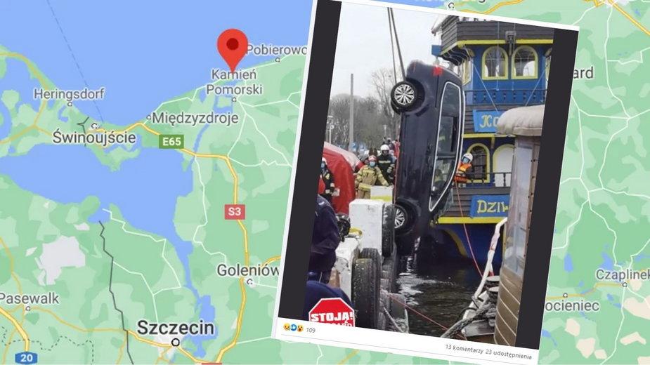 Dziwnów: Samochód wpadł do zalewu. Nie żyją cztery osoby