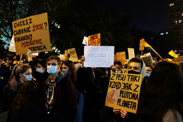 Protesty w Warszawie 28 października 2020 9