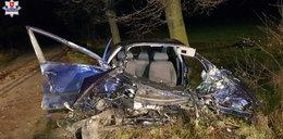 Uderzył w drzewo, z samochodu wypadł silnik. A kierowca...