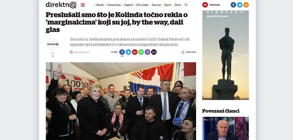 HDZ-ov portal o hrvatskoj predsednici