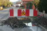 Prokuplje raskopana ulica iy koje izvire voda foto ljm