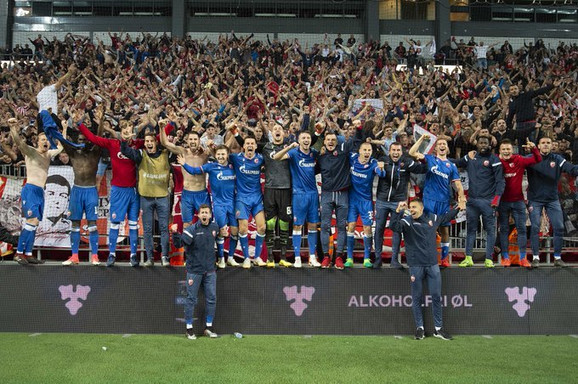 Slavlje FK Crvena zvezda, FK Kopenhagen