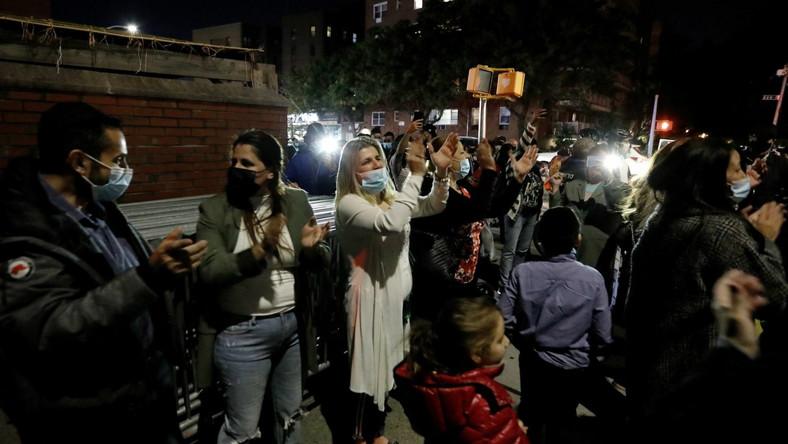 Protest na Brooklynie