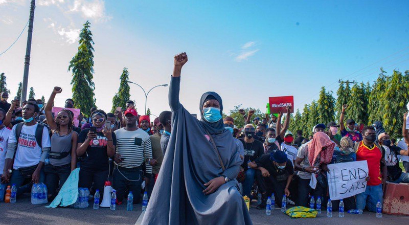 Here are 7 iconic photos from #EndSARS protests across the world