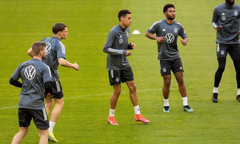 Trening piłkarskiej reprezentacji Niemiec