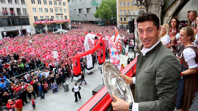 Tak Robert Lewandowski z kolegami z Bayernu świętował mistrzowski tytuł