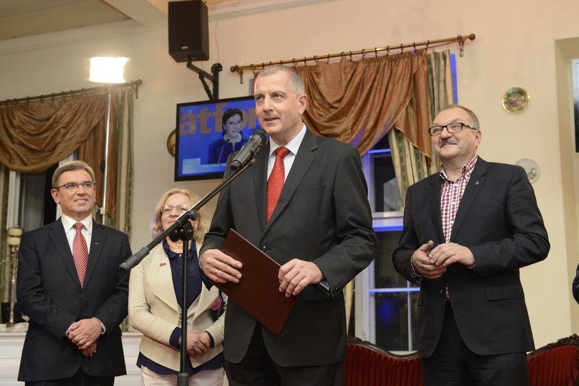 Rafał Dutkiewicz (55 l.) podczas wieczoru wyborczego