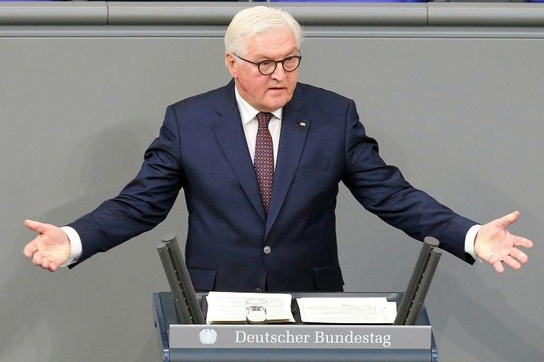 "German President Frank-Walter Steinmeier warned against a ""new, aggressive nationalism"""