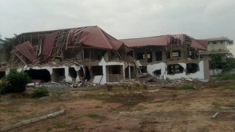 Destroyed High Commission building of Nigeria in Ghana (Dele Momodu)