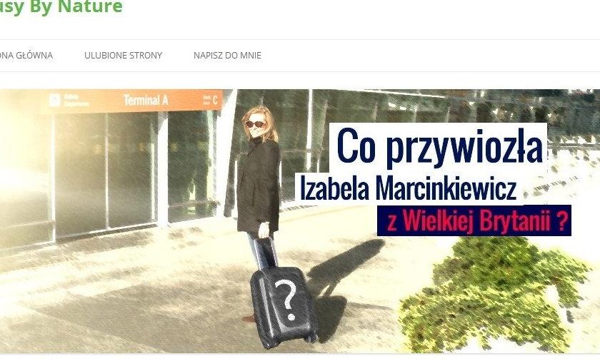 Blog Izabeli Marcinkiewicz
