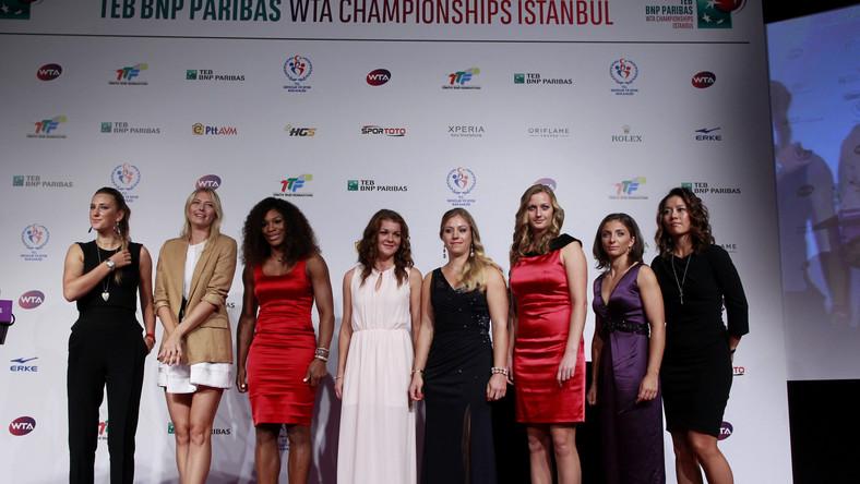 Wiktoria Azarenka, Maria Szarapowa, Serena Williams, Agnieszka Radwanska, Angelique Kerber, Petra Kvitova, Sara Errani i Li Na