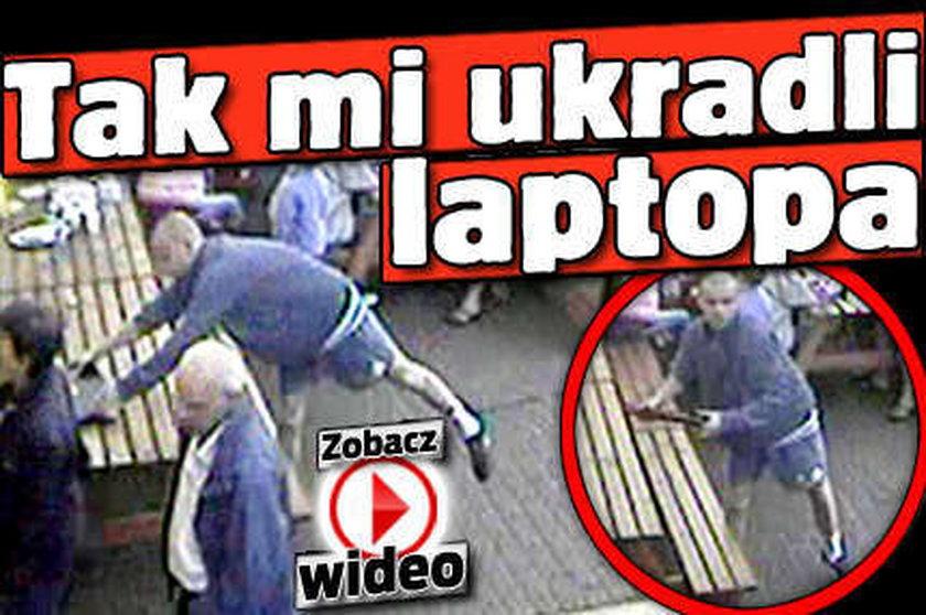 Tak kradną laptopy. Nagroda za wskazanie złodziei!