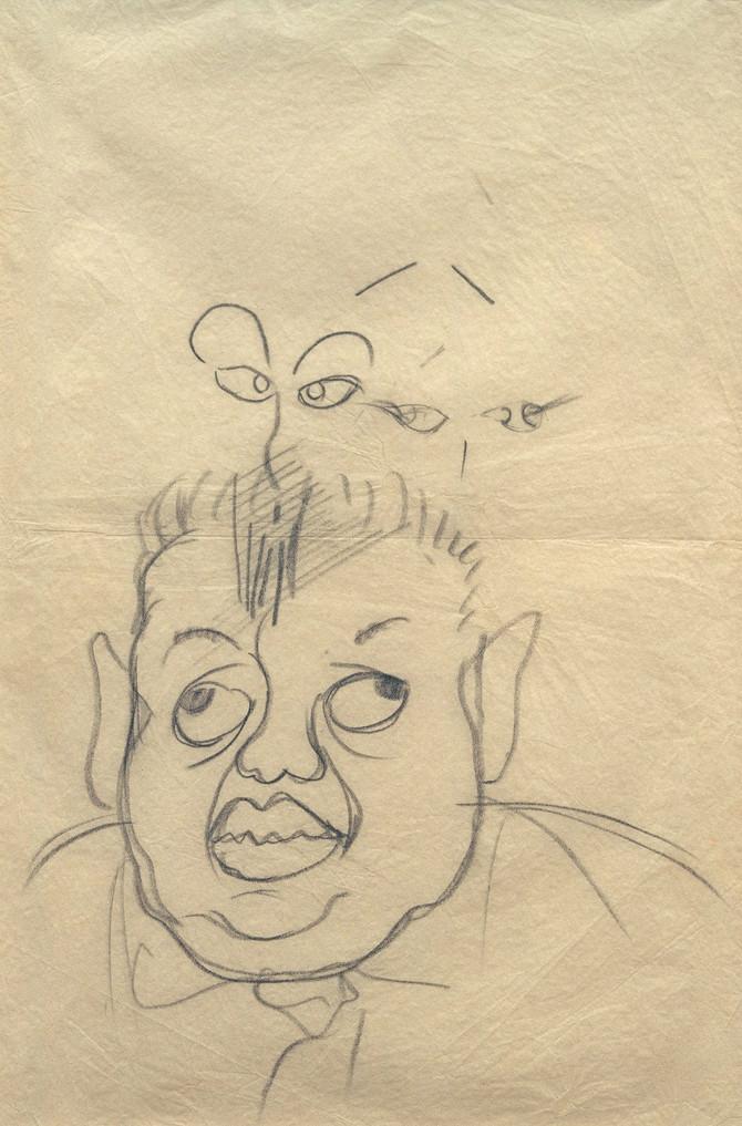 Ovako je Frida nacrtala svog supruga jednom prilikom