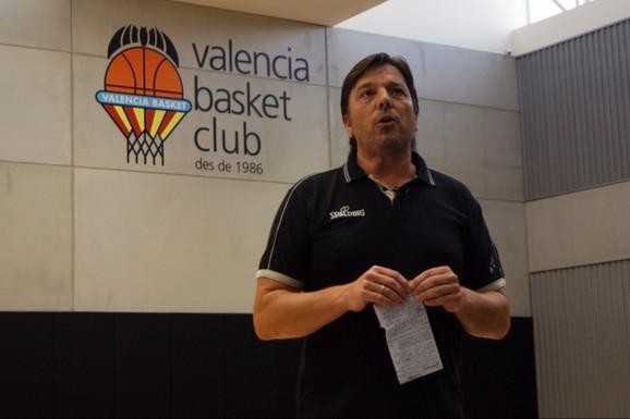 Andrija Gavrilović na trenerskoj košarkaškoj klinici koju je organizovala KK Valensija