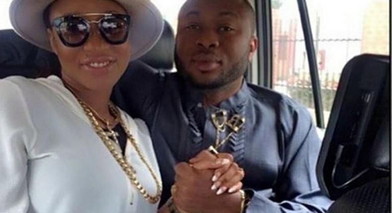 Tonto Dikeh and her husband, Churchill Oladunni Olakunle