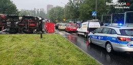 Koszmarny wypadek w Bielsku-Białej. Ciężarówka zmiażdżyła osobówkę