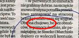 """Obrona grała ch***owo! """"Polska"""" przeprasza"""